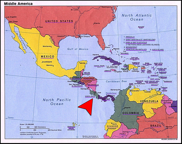 Costa Rica Ventures Property Investment Real Estate Vaction - Map of costa rica central america